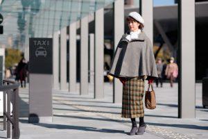 着物,ブーツ,コーディネート,ベレー帽,松本,モデル,着付け,浦安,教室,冬