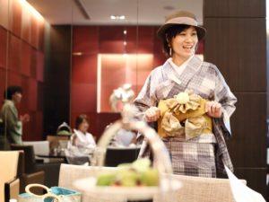 松本,ランチ会,レクチャー,帽子,半幅帯,アレンジ,可愛い,着物